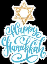 Star Of David Hanukkah Sticker