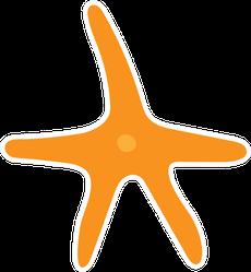 Starfish Gold Star Slim Sticker