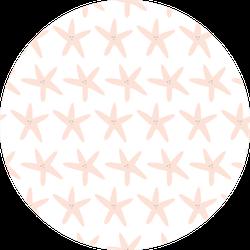 Starfish Pink With White Background Pattern Sticker