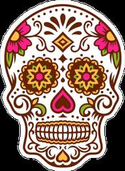 Starry Eyed Sugar Skull Sticker