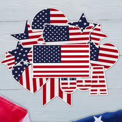 USA All The Way - American Flag Sticker Bundle