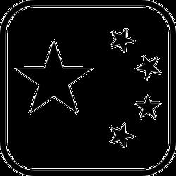Stars Outlined Sticker