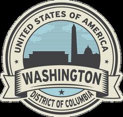 State Of Washington DC Seal Sticker