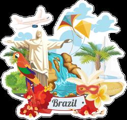 Statue of Jesus in Rio de Janeiro Sticker