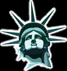 Statue Of Liberty Head Sticker