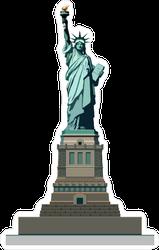 Statue Of Liberty USA Sticker