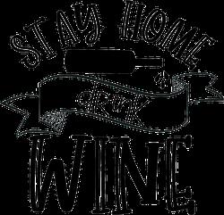 Stay Home Drink Wine Sticker