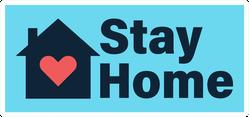 Stay Home Quarantine Sticker