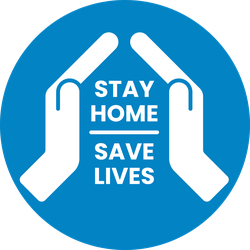 Stay Home Save Lives Hands Sticker