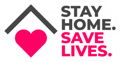 Stay Home Save Lives Social Distance Sticker