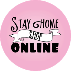 Stay Home Shop Online Sticker