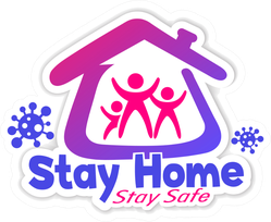 Stay Home Stay Safe Icon Sticker