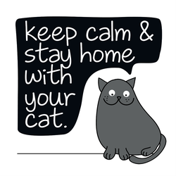 Stay Home With Your Cat Sticker