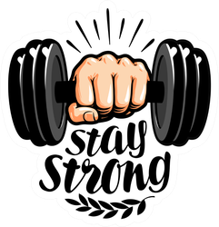 Stay Strong Lettering Sticker
