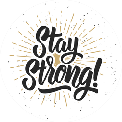 Stay Strong Script Sunshine Sticker