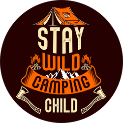 Stay Wild Camping Child Sticker