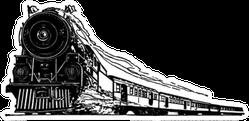 Steam Locomotive - Retro Train Sticker