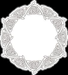 Stencil Celtic Knot For Coloring Sticker