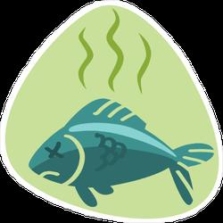 Stinky Dead Fish Sticker