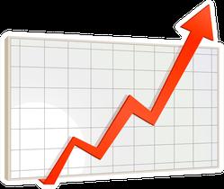 Stock Market Graph Sticker