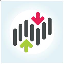 Stock Market Graph Symbol Sticker