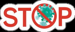 Stop Coronavirus Text Sticker