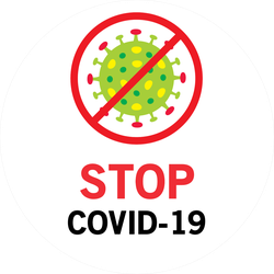 Stop Covid Germ Graphic Sticker