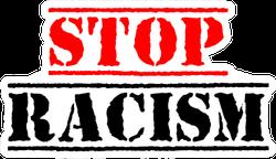 Stop Racism Calligraphic Text Sticker
