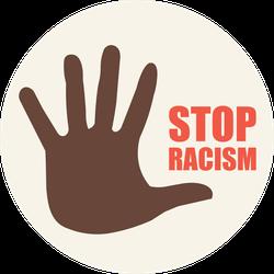 Stop Racism Circle Sticker