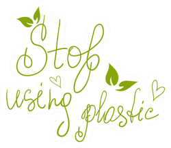 Stop Using Plastic Thin Writing Sticker