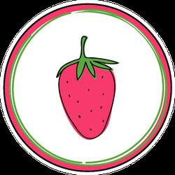 Strawberry Cartoon Icon Sticker