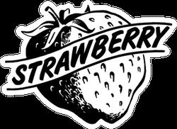 Strawberry Retro Clip Art Sticker