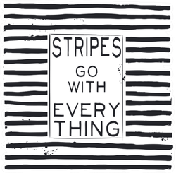 Stripes Go With Everything Sticker