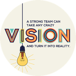 Strong Team With A Vision Sticker