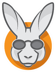 Stylish Kangaroo With Glasses Sticker