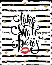 Stylish Take Me To Paris Sticker