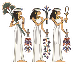 Stylized Ancient Egypt Scene Sticker