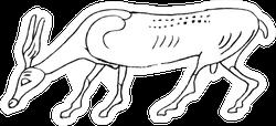 Stylized Antelope Sticker