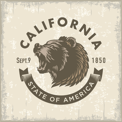 Stylized California Bear Logo Sticker