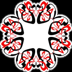 Stylized Celtic Knot - Decorative Frame Sticker