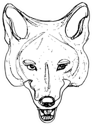 Stylized Face Of Coyote Sticker
