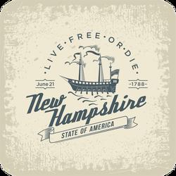 Stylized New Hampshire State Sticker