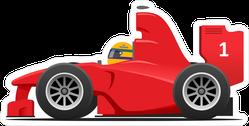 Stylized Racing Car Sticker
