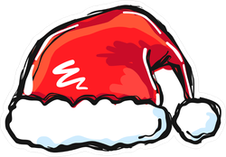 Stylized Santa Hat Sticker