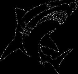 Stylized Swimming Shark Sticker