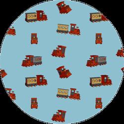 Suburban Train Wagon Pattern Sticker