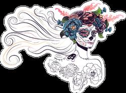 Sugar Skull Bride Sticker