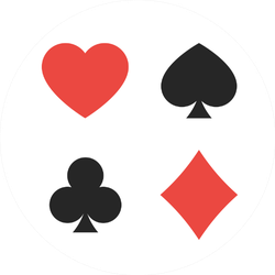 Suit Of Playing Cards Illustration Of Symbols Sticker