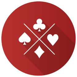 Suits Of Playing Cards Flat Design Sticker