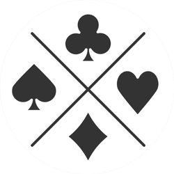 Suits Of Playing Cards Icon Sticker